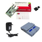 Kit Básico Raspberry Pi 3 - Case Snes