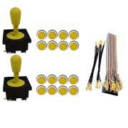 Kit Com 2 Comandos Aegir + 16 Botoes Corpo Branco + Gpio Amarelo