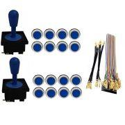 Kit Com 2 Comandos Aegir + 16 Botoes Corpo Branco + Gpio Azul