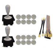 Kit Com 2 Comandos Aegir + 16 Botoes Corpo Branco + Gpio Branco