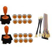 Kit Com 2 Comandos Aegir + 16 Botoes Corpo Branco + Gpio Laranja