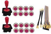 Kit Com 2 Comandos Aegir + 16 Botoes Corpo Branco + Gpio Rosa