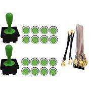 Kit Com 2 Comandos Aegir + 16 Botoes Corpo Branco + Gpio Verde