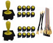 Kit com 2 Comandos Aegir + 16 Botões Corpo Preto + Gpio