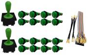 Kit Com 2 Comandos Aegir + 16 Botoes De Nylon + Cabo Gpio Verde