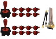 Kit Com 2 Comandos Aegir + 16 Botoes De Nylon + Cabo Gpio Vermelho