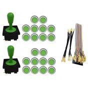 Kit Com 2 Comandos Aegir 20 Botões Corpo Branco e Gpio Verde