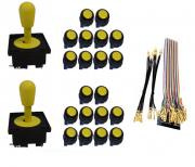 Kit com 2 Comandos Aegir 20 Botões Corpo Preto e Gpio Amarelo
