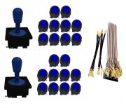 Kit com 2 Comandos Aegir 20 Botões Corpo Preto e Gpio Azul