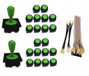 Kit com 2 Comandos Aegir 20 Botões Corpo Preto e Gpio Verde