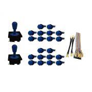 Kit Com 2 Comandos Aegir 20 Botões De Nylon e Cabo Gpio Azul
