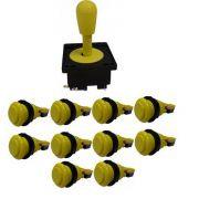 Kit Comando Aegir + 10 Botoes De Nylon - Amarelo