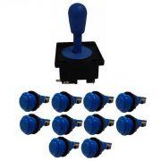 Kit Comando Aegir + 10 Botoes De Nylon - Azul