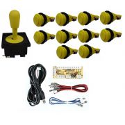 Kit Comando Aegir + 10 Botoes De Nylon + Placa Zero Delay