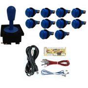 Kit Comando Aegir + 10 Botoes De Nylon + Placa Zero Delay - Azul