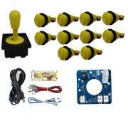 Kit Comando Aegir Magnético + 10 Botoes De Nylon + Placa Zero Delay - Amarelo