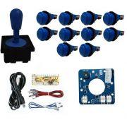 Kit Comando Aegir Magnético + 10 Botoes De Nylon + Placa Zero Delay - Azul