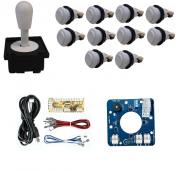 Kit Comando Aegir Magnético + 10 Botoes De Nylon + Placa Zero Delay - Branco