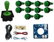 Kit Comando Aegir Magnético + 10 Botoes De Nylon + Placa Zero Delay - Verde