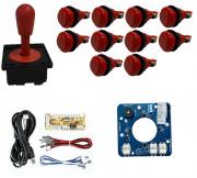Kit Comando Aegir Magnético + 10 Botoes De Nylon + Placa Zero Delay - Vermelho
