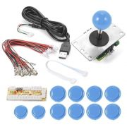 Kit Zero Delay Usb Arcade Sanwa Genérico Para Pc, Rasp, Ps3 - Azul