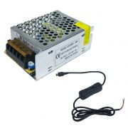 Mini Fonte Chaveada Raspberry Pi3 -5v5a -85x59x38mm  C/ Cabo