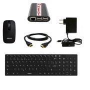 Mini PC Desktop Raspberry PI 3 com Teclado e Mouse