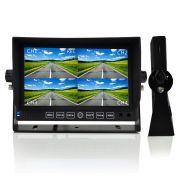 Monitor Traseiro de LCD Quad Dvr 7 Polegadas com 4 Câmeras