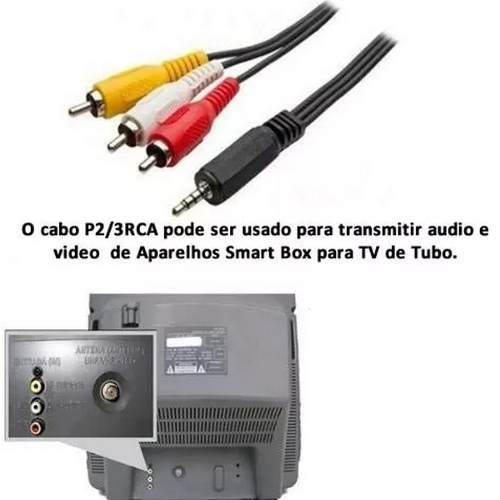 Cabo Adaptador P2 - 3rca Tv Box Mxq Mx9 Gps Dvd Av