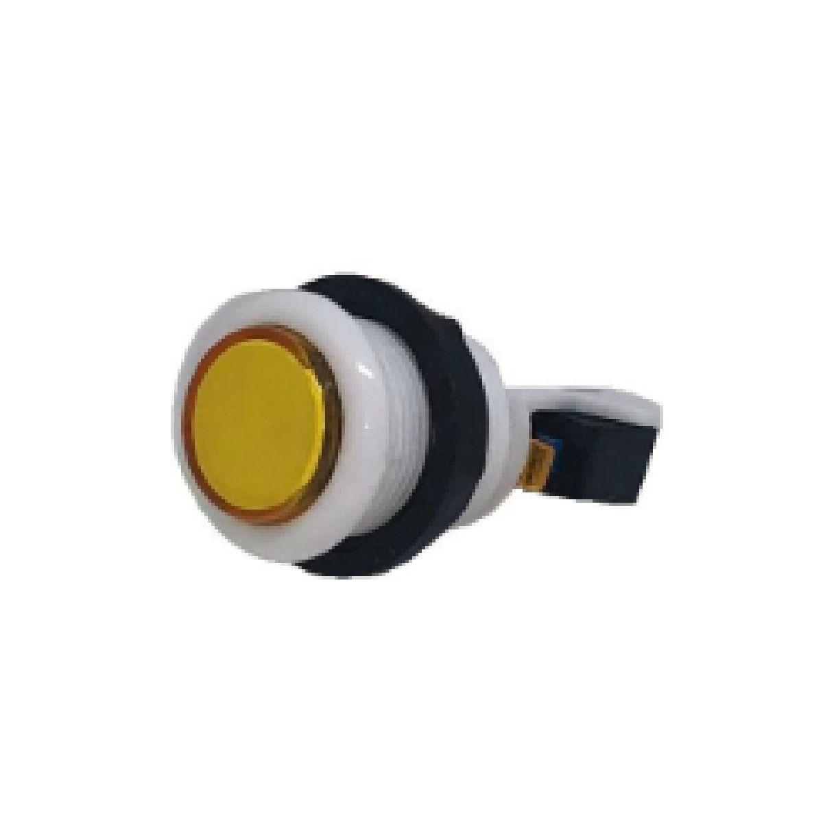 Botão Aegir Arcade Acrílico  Branco com Micro Switch Amarelo