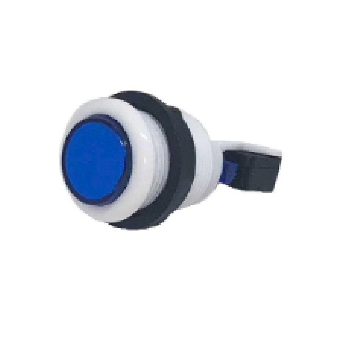 Botão Aegir Arcade Acrílico  Branco com Micro Switch Azul