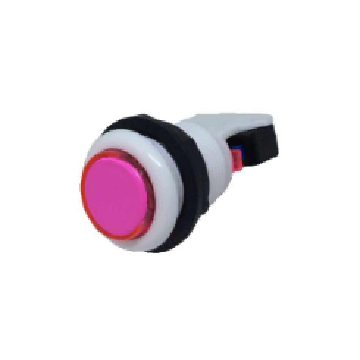 Botão Aegir Arcade Acrílico  Branco com Micro Switch Rosa