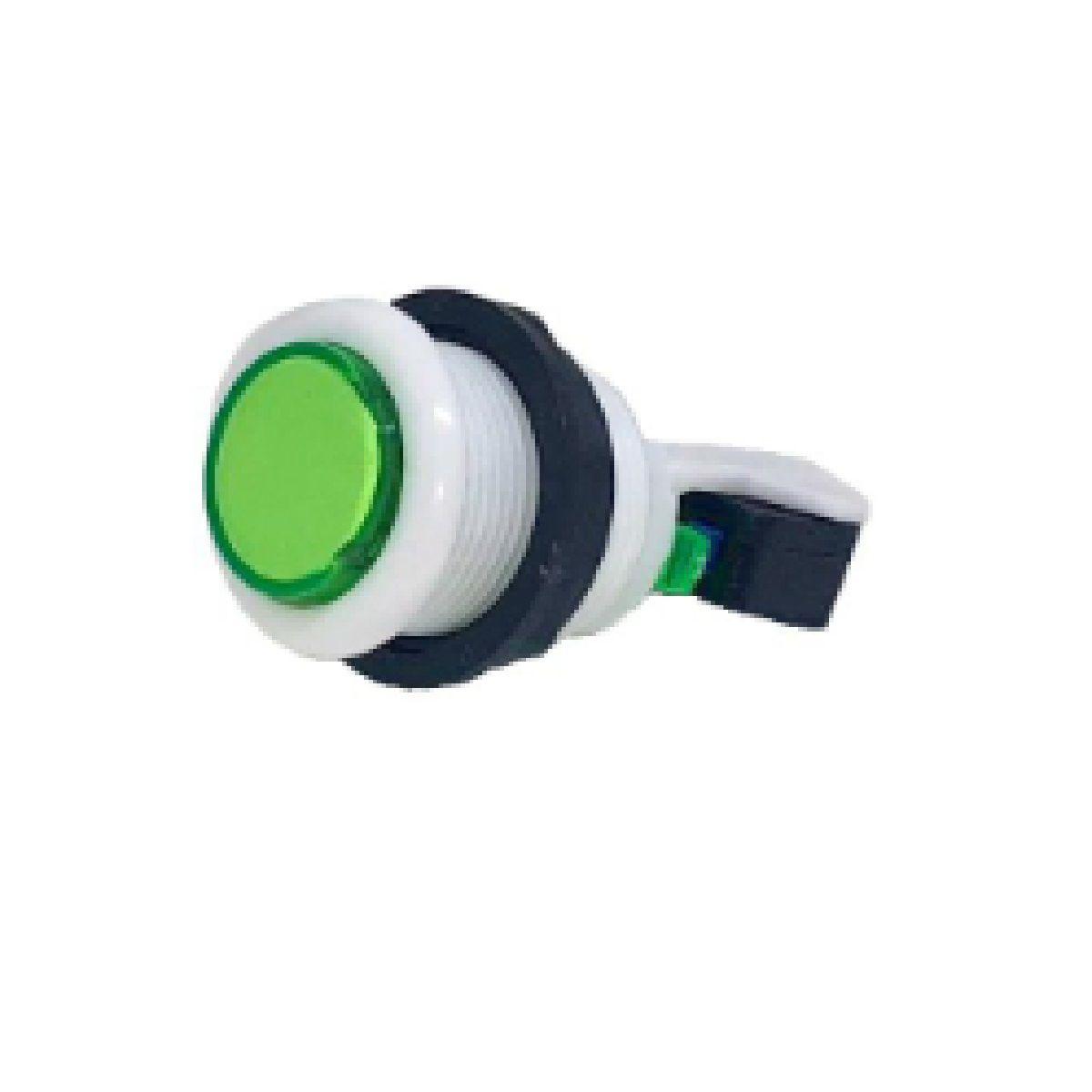 Botão Aegir Arcade Acrílico  Branco com Micro Switch Verde