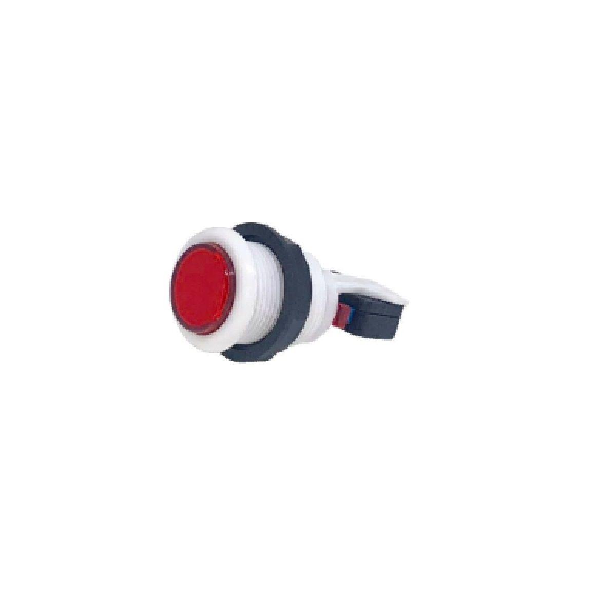 Botão Aegir Arcade Acrílico  Branco com Micro Switch Vermelho