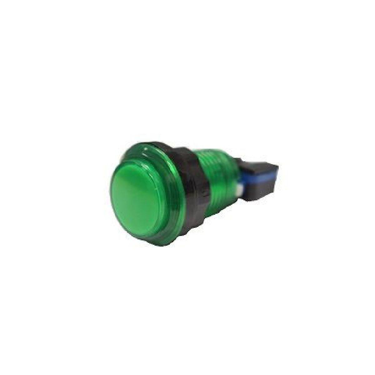 Botão Aegir com Led Para Fliperama Arcade Bartop Verde