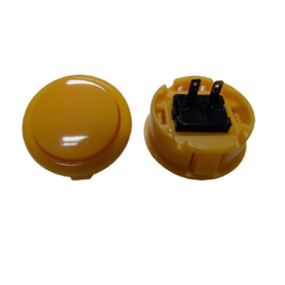 Botão Arcade Fliperama Alta Performance Tipo Sanwa (conector 2.8mm) Amarelo