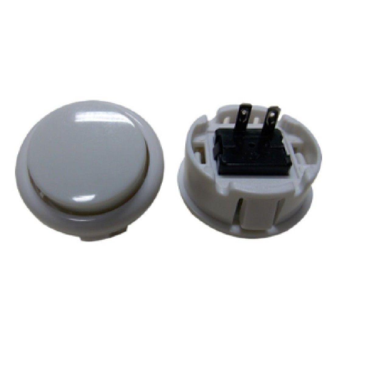 Botão Arcade Fliperama Alta Performance Tipo Sanwa (conector 2.8mm) Branco