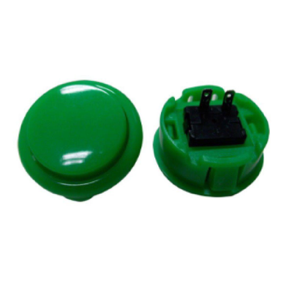 Botão Arcade Fliperama Alta Performance Tipo Sanwa (conector 2.8mm) Verde