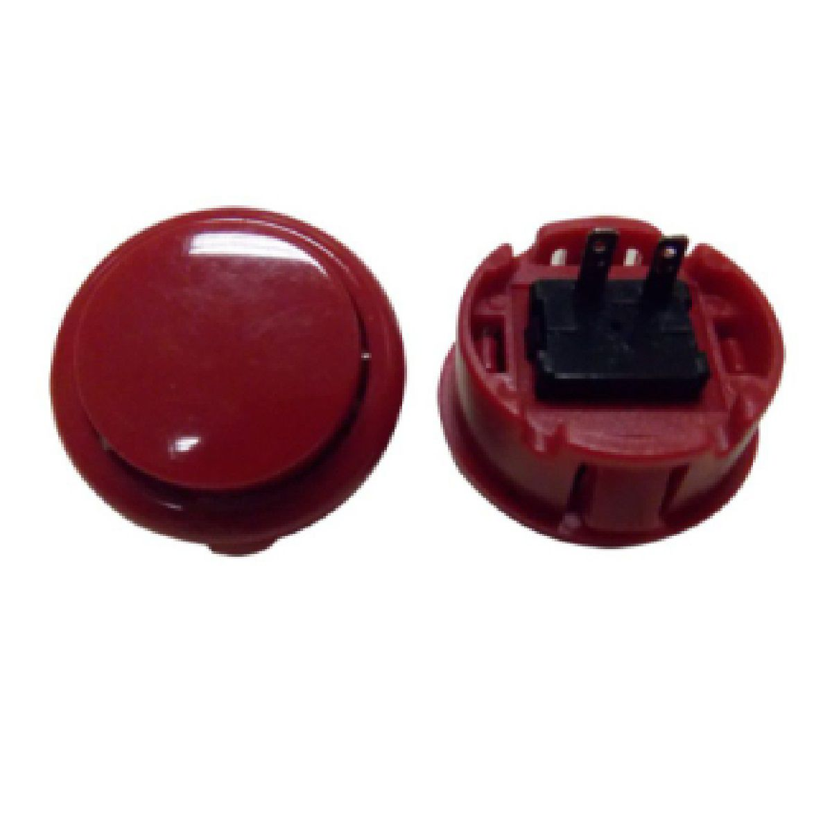 Botão Arcade Fliperama Alta Performance Tipo Sanwa (conector 2.8mm) Vermelho
