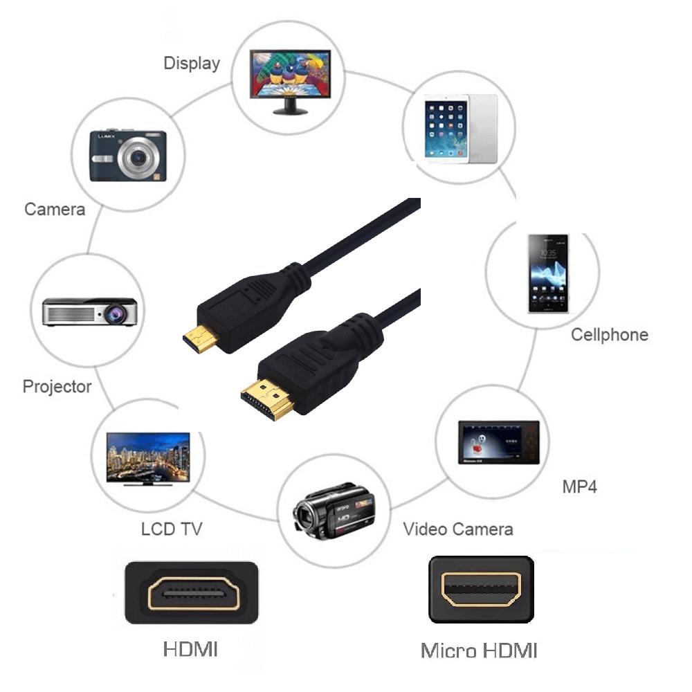 CABO HDMI PARA MICRO HDMI 1 METRO