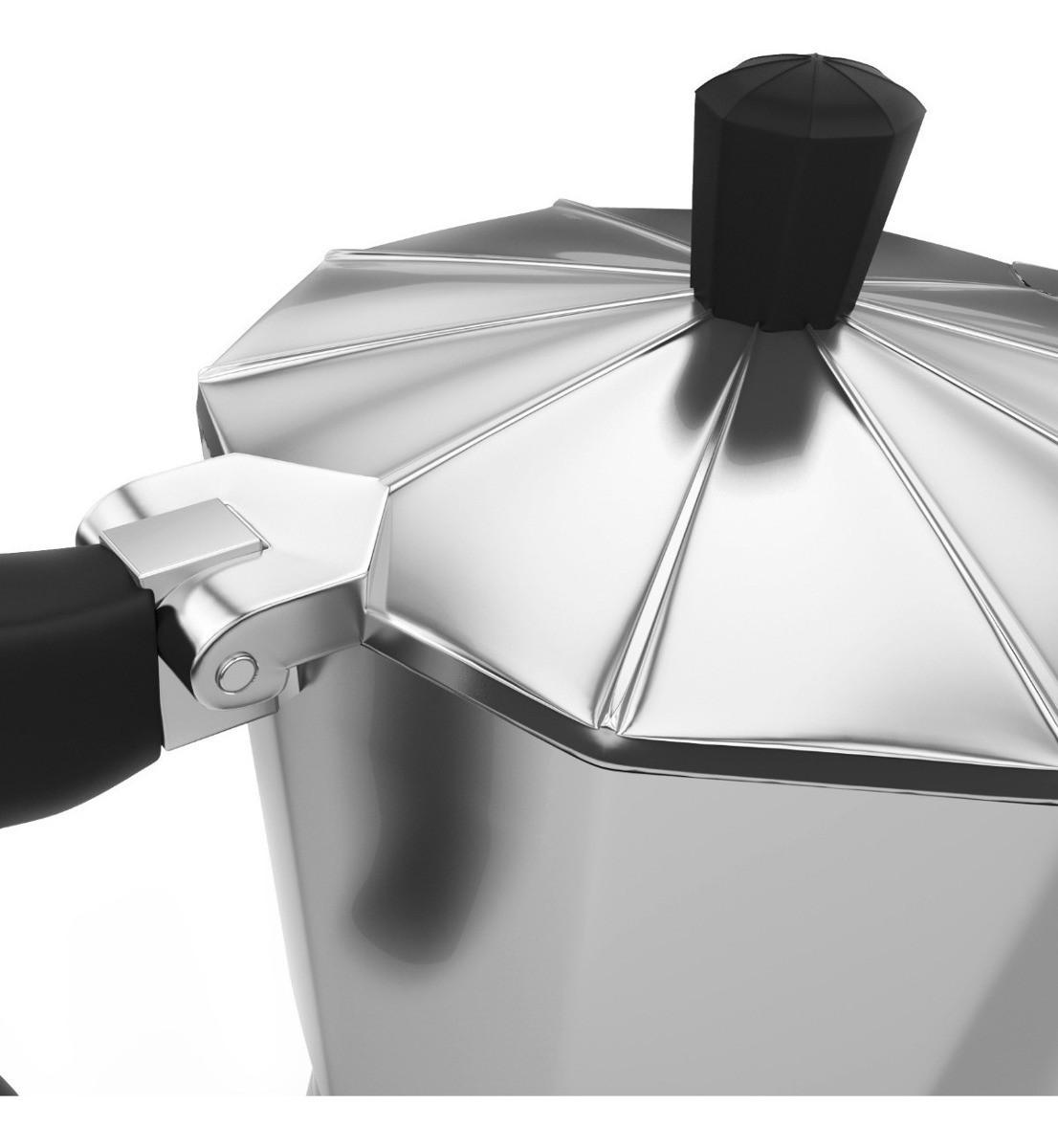 Cafeteira Italiana Alumínio Polido