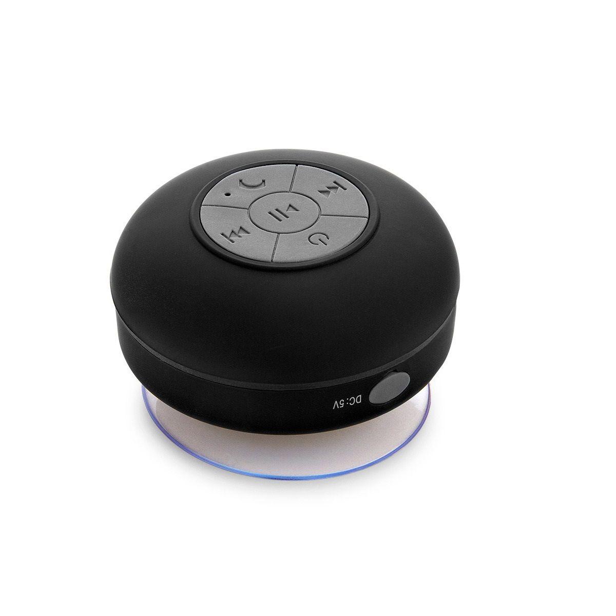 Caixa de Som Bluetooth à Prova D'água Preta