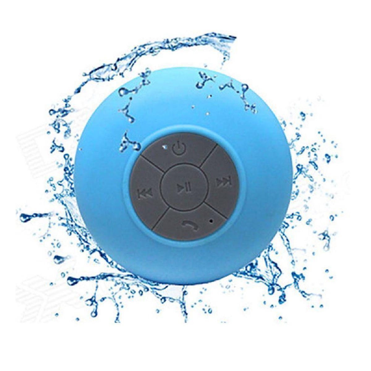 Caixa de Som Bluetooth à Prova D'água Azul