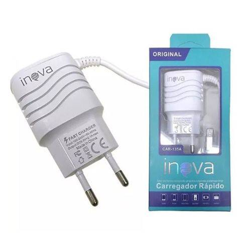 CARREGADOR TURBO INOVA 3.1 + 2 ENTRADAS USB