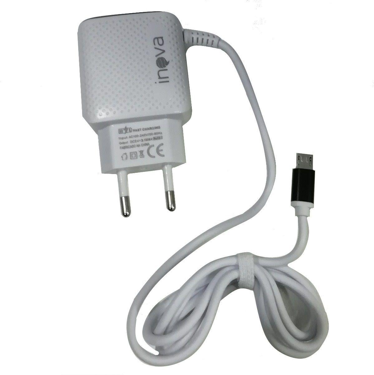 CARREGADOR TURBO INOVA 3.1 + 2 ENTRADAS USB