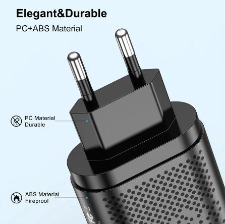 Carregador Turbo 3.0  Para Iphone 11/12 tipo PD + USB 20W
