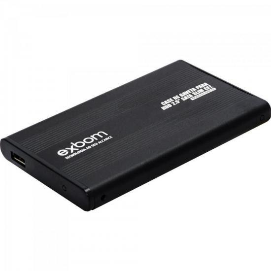 CASE DE GAVETA USB 2.0 PARA HDD 2.5 SATA SLIM EXTERNO BLISTER
