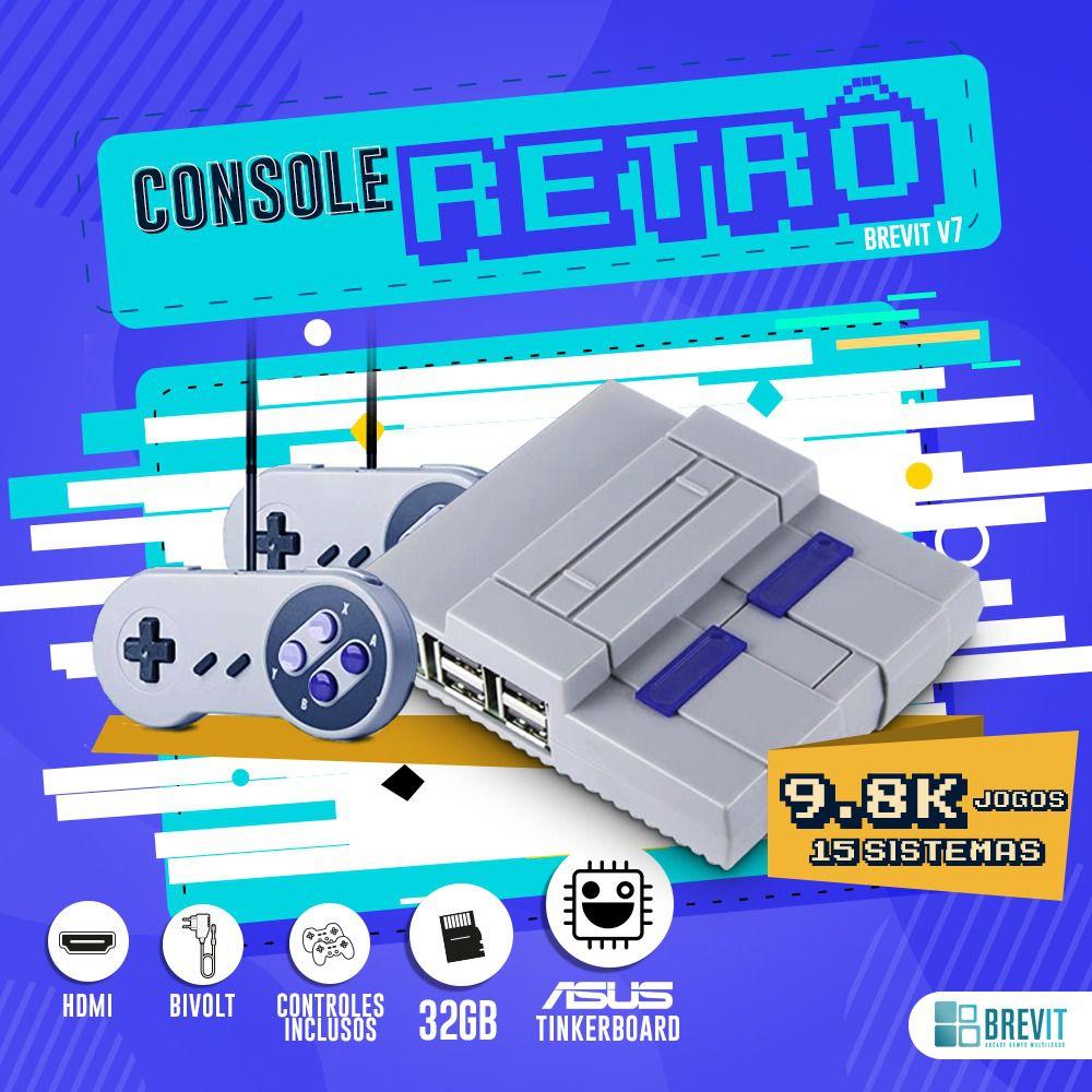 Console Retrô Brevit V7 32GB - Asus Tinker Board 2GB
