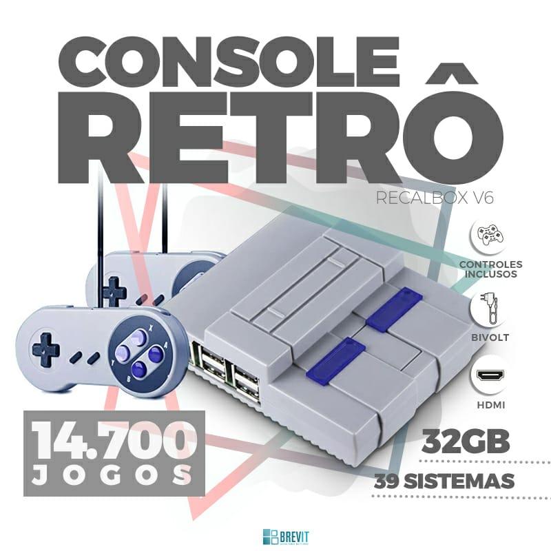 CONSOLE RETRO  RECALBOX BREVIT V6 ``DRAGONBLAZE´´ 32GB P/ RASP B E B+