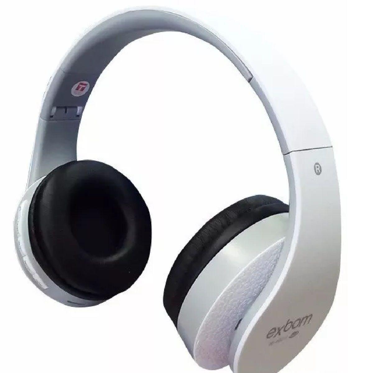 Fone Headset Hf-400bt Bluetooth Fm/cartao Sd Exbom Branco